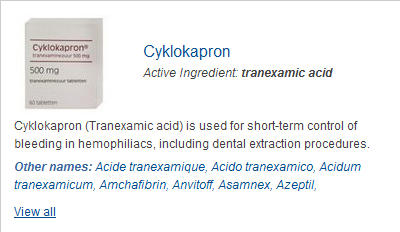 tranexamsyra 500 mg